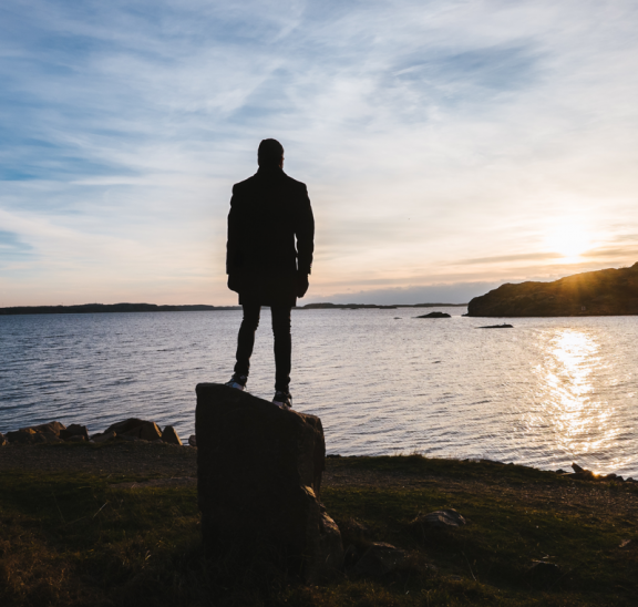 Man pondering sunset because it matters. Photo credit: Magnus Indvall