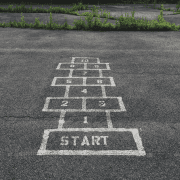 Hopscotch showing you can start as soon as your group arrives. Credit Jon Tyson