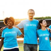 Three volunteers, ask for a volunteer. Credit rawpixel