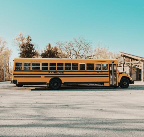 Yellow school bus offering students back to school activities. Credit Renan Kamikoga
