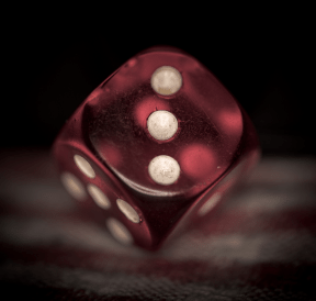 dice used in dropping dice game. Phot credit: Mike Szczepanski