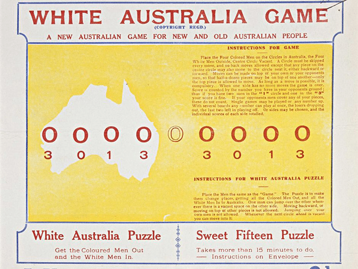 White Australia Game, a depiction of the origin of Traffic Jam group initiative