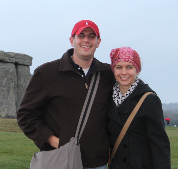 Ryan & Kristin Eller at Stonehenge, travelling to Australia to lead Intentional Leadership Training workshop