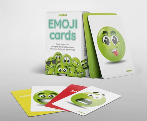 EMOJI Cards tuckbox display with cards