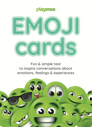 Emoji Cards front of tuckbox