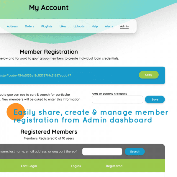 Screenshot of Enterprise Membership Admin dashboard