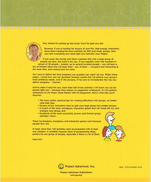 Back cover of Count Me In: Large Group Games That Work book, by Mark Collard