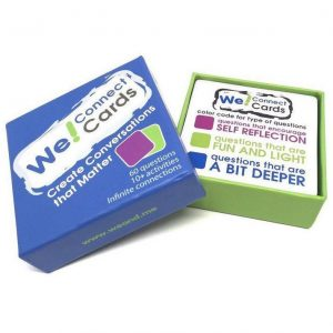 Open box of We! Connect Cards