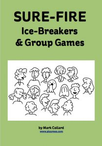 Front cover of free ebook called Sure-Fire: Ice-Breakers and Group Games, by Mark Collard