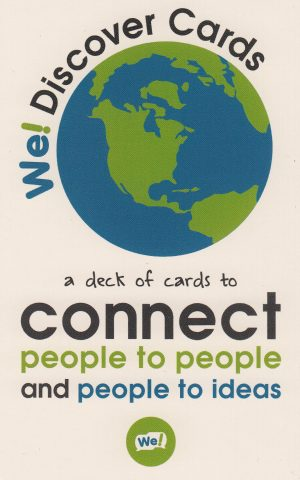 Front cover of We Discover Cards box