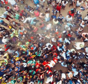 Large group of people. Photo credit: Benny Jackson