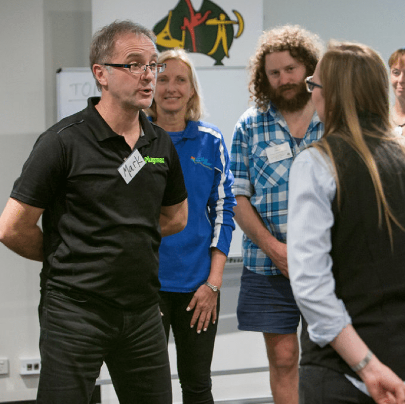 Mark Collard playing Your Add group activity as part of professional development workshop with ACA conference 2017