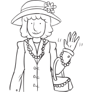 Woman dressed up in fancy clothing, as seen in fun game called Dress Me Ups