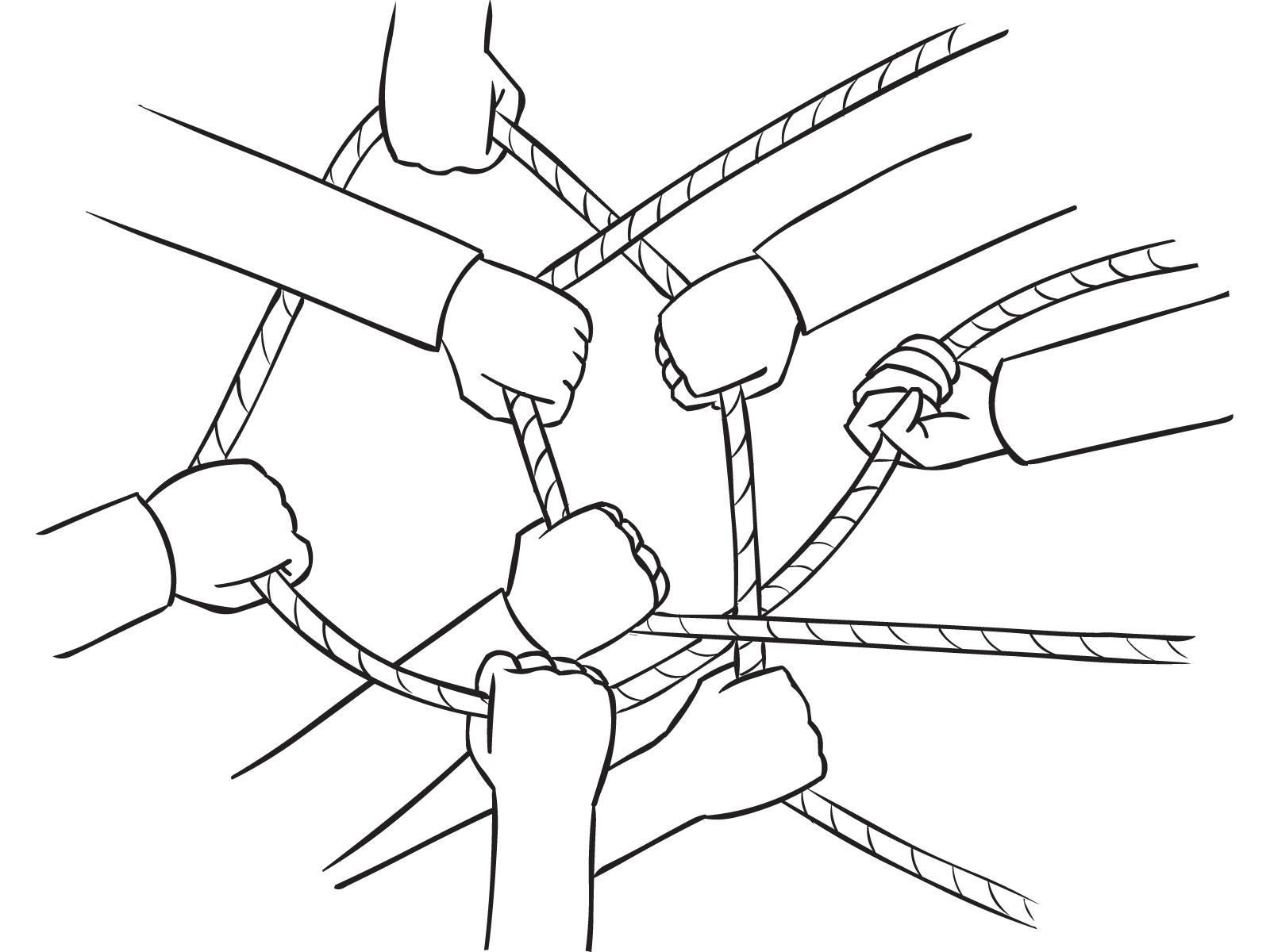 Image result for people tugging on a knot of string cartoon
