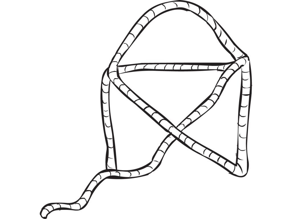 Length of rope configured to look like a Rope House