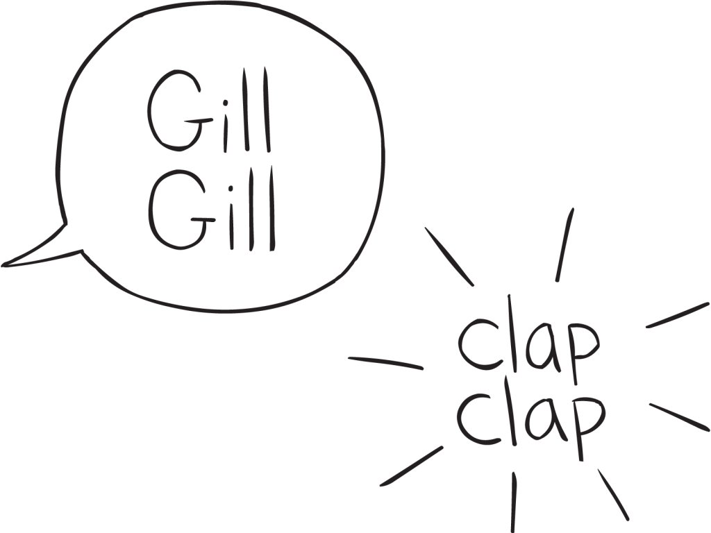 Talking bubble and clapping image for Concentration game