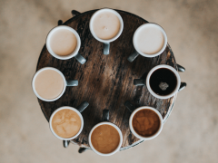 Coffee cups of character strengths. Photo: Nathan Dumlao