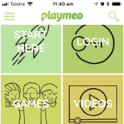 playmeo app homescreen
