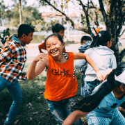 Children exercising their right to play. Photo credit Mi Pham