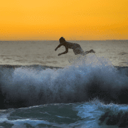 Surfer flipping off board trying to learn from experience. Credit Debora Cardenas