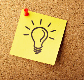 Light Bulb on sticky note portraying creative thoughts. Credit: Absolutvision