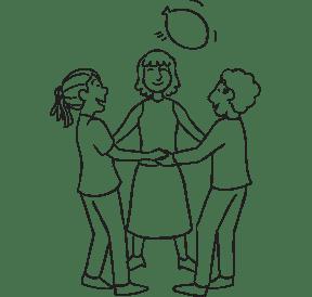 Three people playing Balloonarama