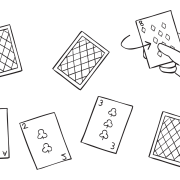 Flip Over Ten playing cards group initiative
