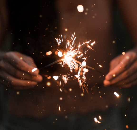 How to spark engagement, sparkler in hands. Credit Ethan Hoover