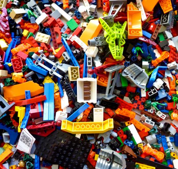 Be creative leading group games with Lego bricks. Credit Rick Mason