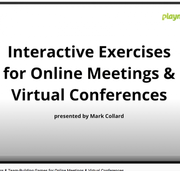 Live webinar showcasing interactive group games that work online
