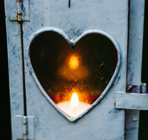 Heart-shaped lantern expressing personal strengths Credit Cathal Mac