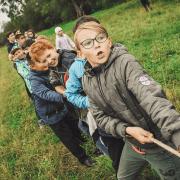 outdoor team building activities. Credit Anna Samoylova