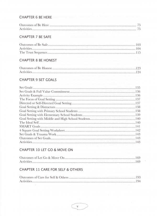 Full Value School Table of Contents page 3