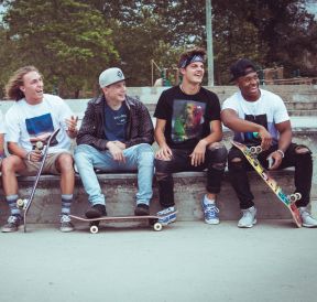 Team building activities for teenagers at the skatepark. Credit Parker Gibbons
