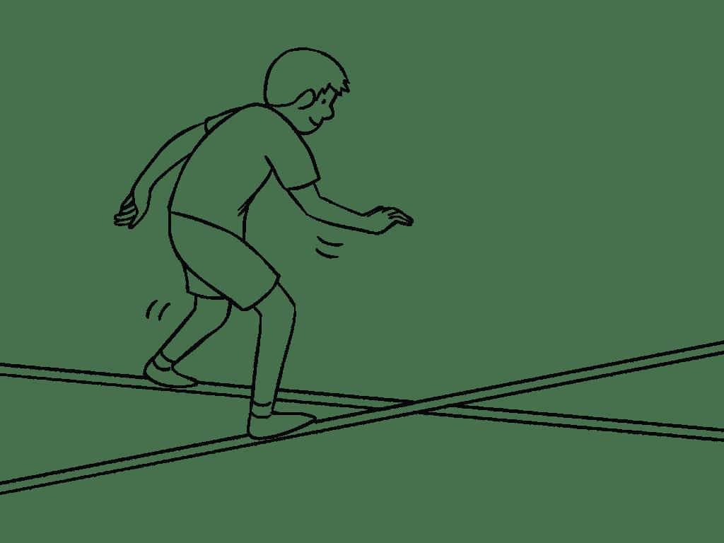 Illustration of Criss Cross Challenge Course element