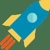 Illustration of rocket launching