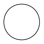 Empty line drawing of a circle