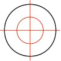 Circle with three lines Solution 1