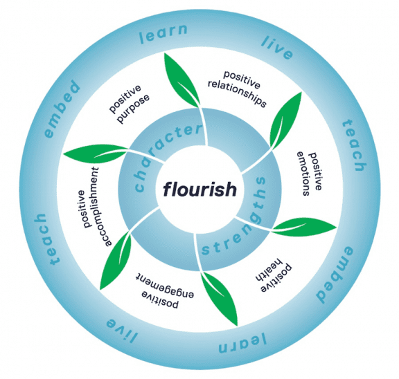Institute of Positive Education Flourish model