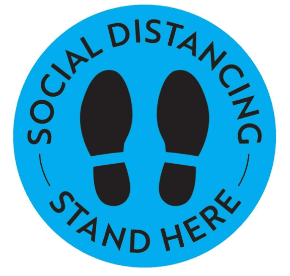 Social distance sign requesting people to keep physical-distancing