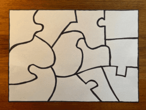 Uniquities puzzle pieces intact