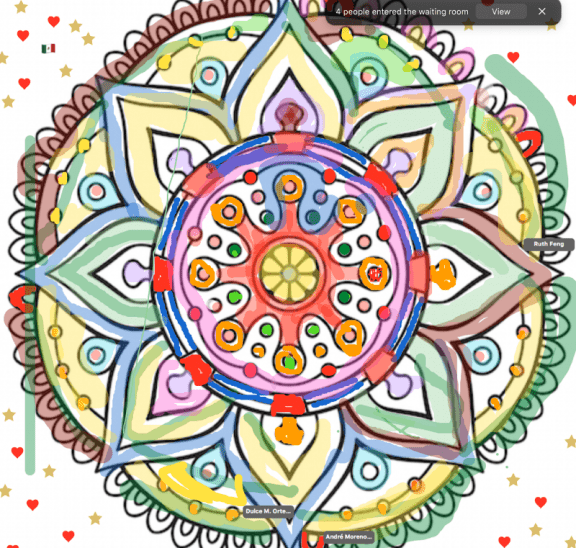 Mandala which formed part of interactive group games online session