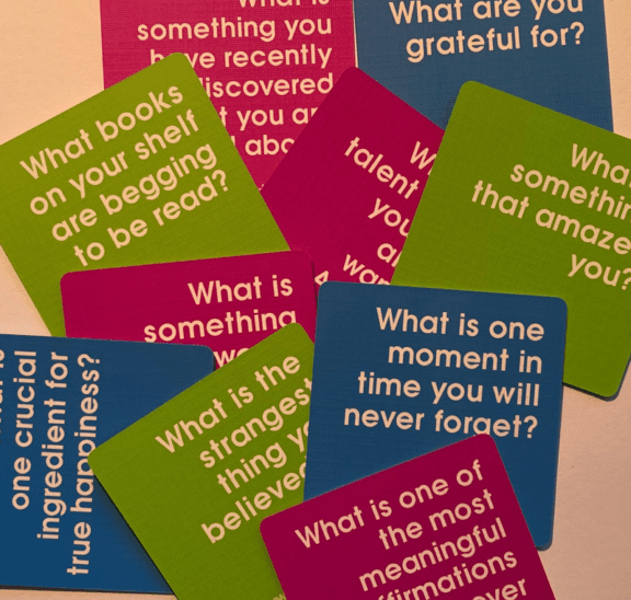 We Connect cards pose some of the best icebreaker questions