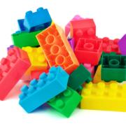 LEGO bricks in a pile