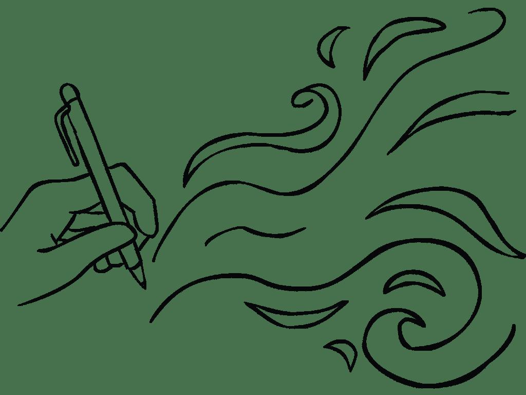 Illustration of Drawing Breath