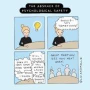 Promoting psychological safety. Credit Liz & Mollie