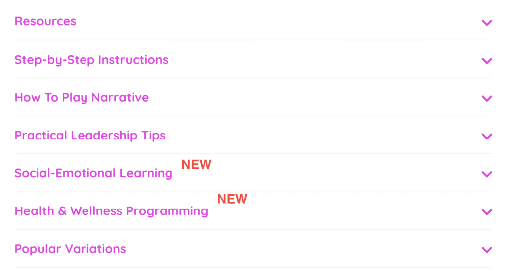 New tabs within activities to develop sel skills