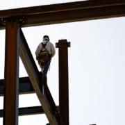 Mohawk Ironworker Walk on construction site